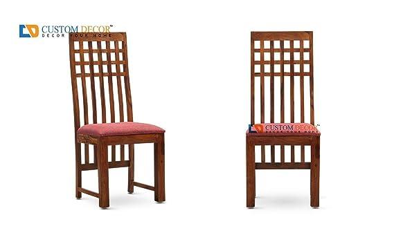 Custom Decor Calabas Solid Wood Dining Chair - Walnut