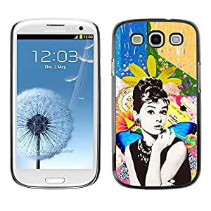 For SAMSUNG Galaxy S3 III / i9300 / i747 Case , Photo Actress Star Hollywood 60'S - Diseño Patrón Teléfono Caso Cubierta Case Bumper Duro Protección Case Cover Funda