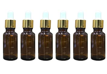 d35f2ca8844b Amazon.com : 6PCS Amber Glass Essential Oil Sample Packing Vials ...