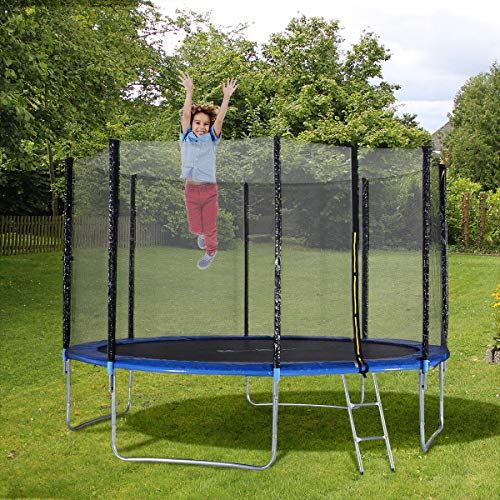 14 Ft Trampoline Combo Bounce Jump Safety W Spring Pad: Giantex Trampoline Combo Bounce Jump Safety Enclosure Net