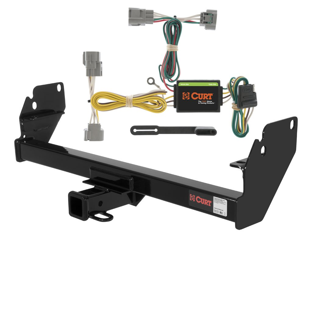 CURT Class 3 Trailer Hitch Bundle with Wiring for 2005-2015 Toyota Tacoma - 13323 & 55513 by Curt