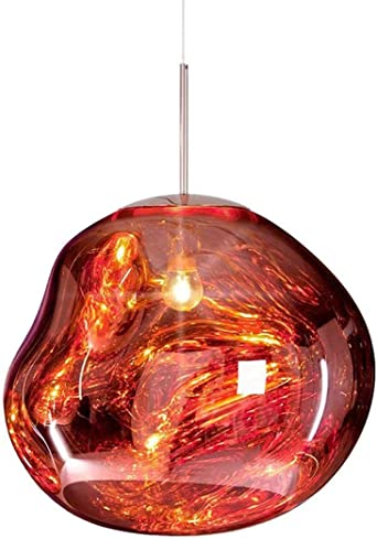 Lámparas de cristal moderna colgante lava irregular espejo