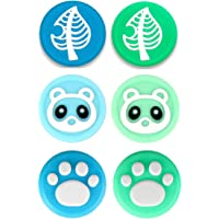 Wen XinRong 6Pcs Thumb Grip Caps Compatible with Nintendo Switch/Lite Cute Cat Paw Raccoon Green Leaf Design Joystick…