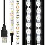 LEDテープライト 貼レルヤ USB (昼光色) 50cm 30灯・両面テープで好きな場所に貼り付け可能・ハサミでカットして長さを変えられます・ショーケースなど店舗用照明にも最適【JTTオンラインオリジナル商品】