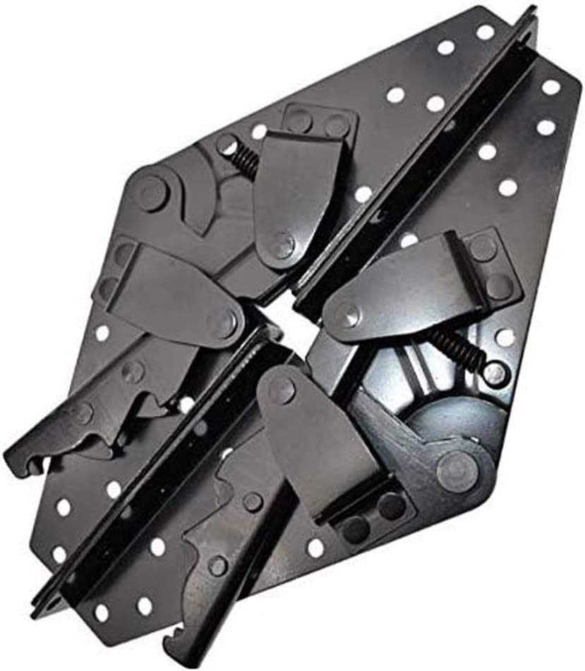 Lheng A Pair Black Sofa Bed Bedding Furniture Adjustable 3-Position Angle Mechanism Hinge Hardware