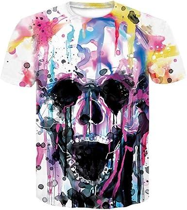 HD Camiseta 3D Camiseta de Calavera para Hombres y Mujeres ...