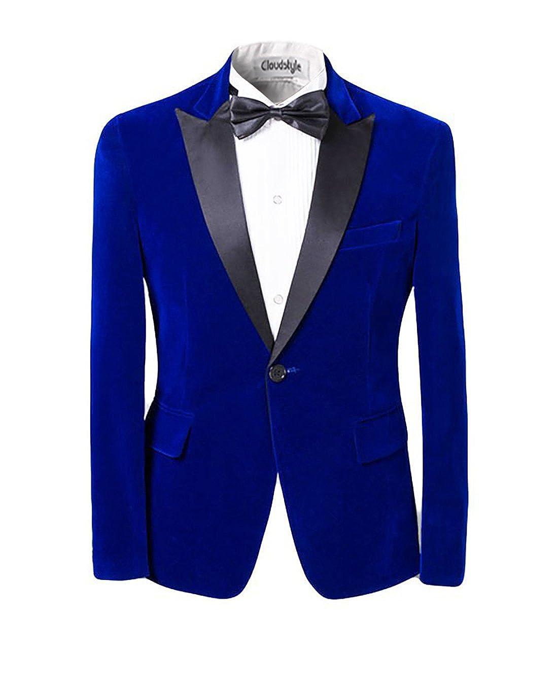 Men Notched Lapel Center-Vent One-Button Blazer TUXEDO Casual Dress Suit Slim Fit Jackets & Trousers X-Large HZ010b-XL