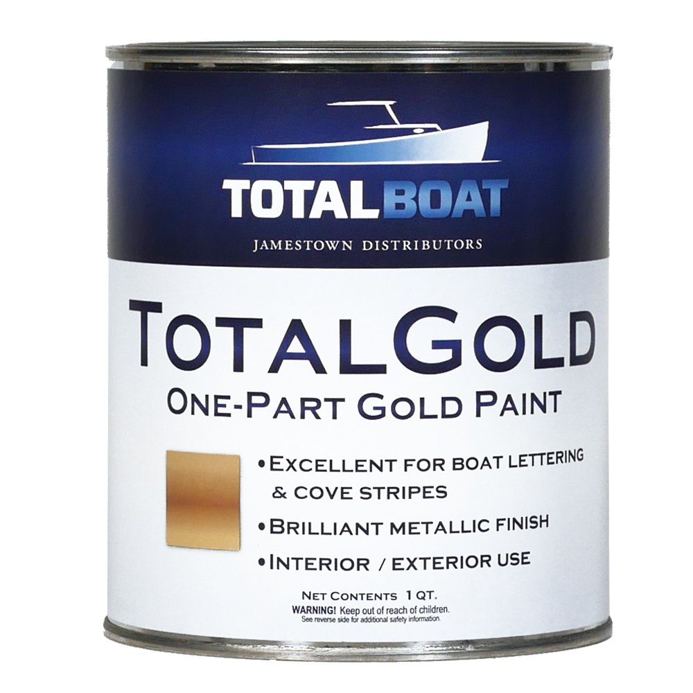 TotalBoat TotalGold Gold Metallic Paint (Quart) by TotalBoat