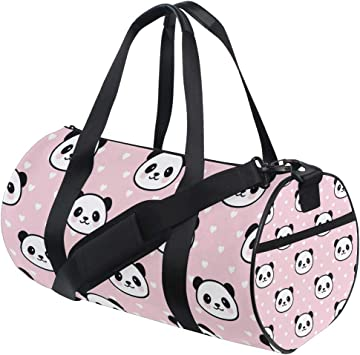 Travel Duffels Happy Panda Duffle Bag Luggage Sports Gym for Women /& Men