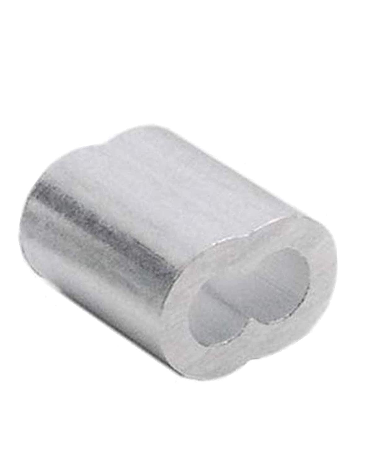 3//16/″ Aluminum Cable Crimps 50 Cable Sleeves Cable Crimp Wire Crimps Aluminum Crimping Loop Sleeve Wire Rope Crimp Sleeve Aluminum Wire Rope Crimp Loop Sleeve