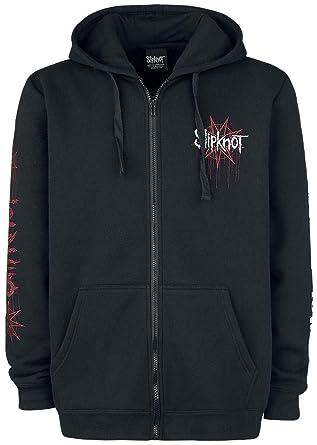 Shirt Noir À Slipknot Xxl Zippé Iowa Star Capuche Sweat SqxtwZq