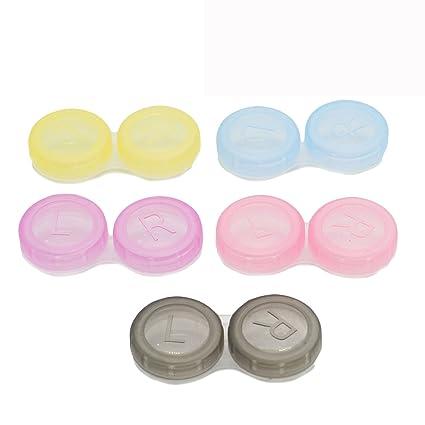 HUELE - Pack colorido de estuches para lentillas, 15 ...