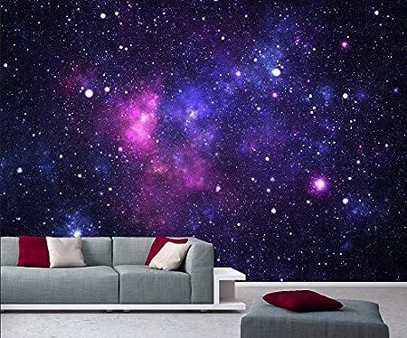 Photo Wallpaper Mural Galaxy 366x254 Cm Space Stars Universe Cosmos Decodeals