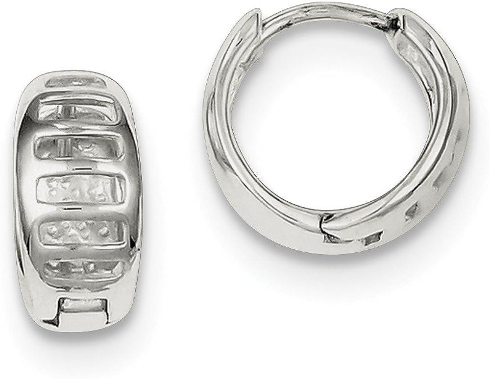 925 Sterling Silver Huggy-Style Earrings