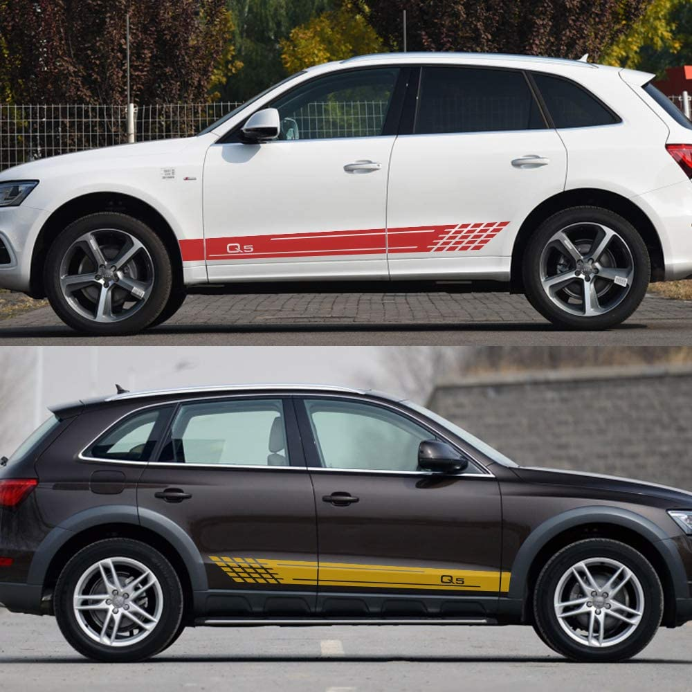 per Ford Focus 2 3 1 per Peugeot 206 FSXTLLL Auto Adesivi Decorativi per Gonna Adesivi per Toyota per Audi A3 A4 B8 B6 B7 per BMW E46 E90 E60 E39 WRC per Opel Astra