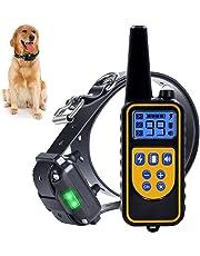 Chucalyn Dog Training Collare, Ricaricabile e Impermeabile Elettronica Dog Trainer Collare cieco operazione Colletto Controllato con Tono/Vibrazione modalità/Light