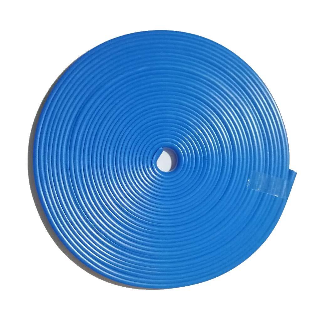 Blue 8M Wheel Hub Anti-Rubbing Strip Wheel Accessory Rim Blade Car Interior Moulding Trim Tape Stripes Anti-Collision Bar of Tire Protection Ring by RLBH