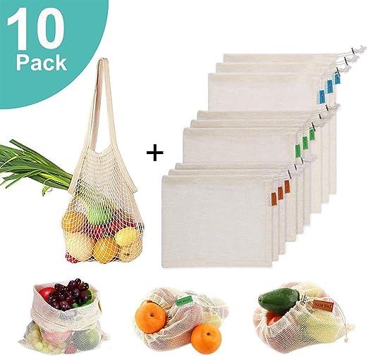 Bolsas de productos reutilizables de algodón orgánico lavable para ...