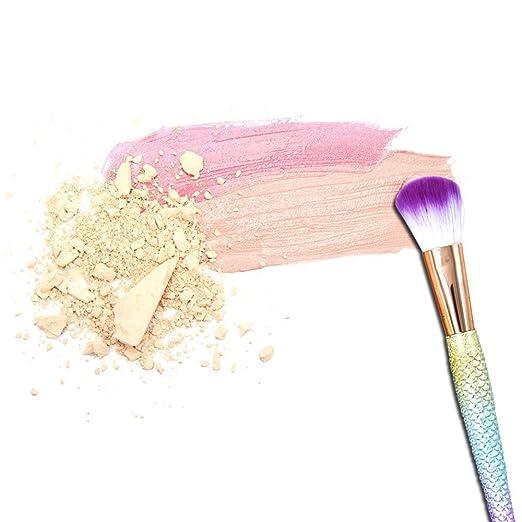 Amazon.com: Juego de 6 brochas de maquillaje con forma de ...