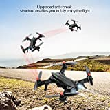 MJX B6 Bugs6 RC Drone, Hobbylane Brushless Moter Quadcopter, Independent ESC Smart Transmitter Alarm High Capacity Battery Racing Drone, Black
