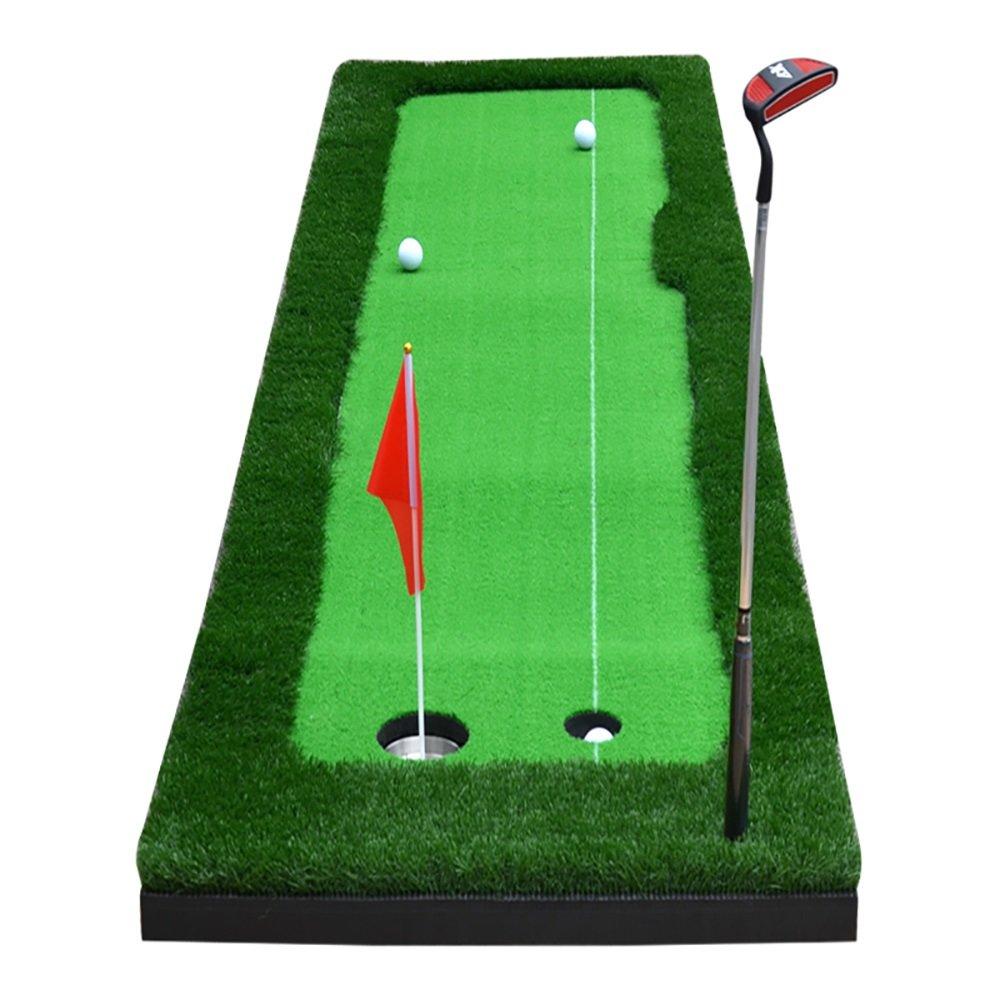 屋内ゴルフマットパットプラクティスフェアウェイエクササイズブランケットアウトドアオフィス3メートルロング 75*300cm  B07FNJMRCF