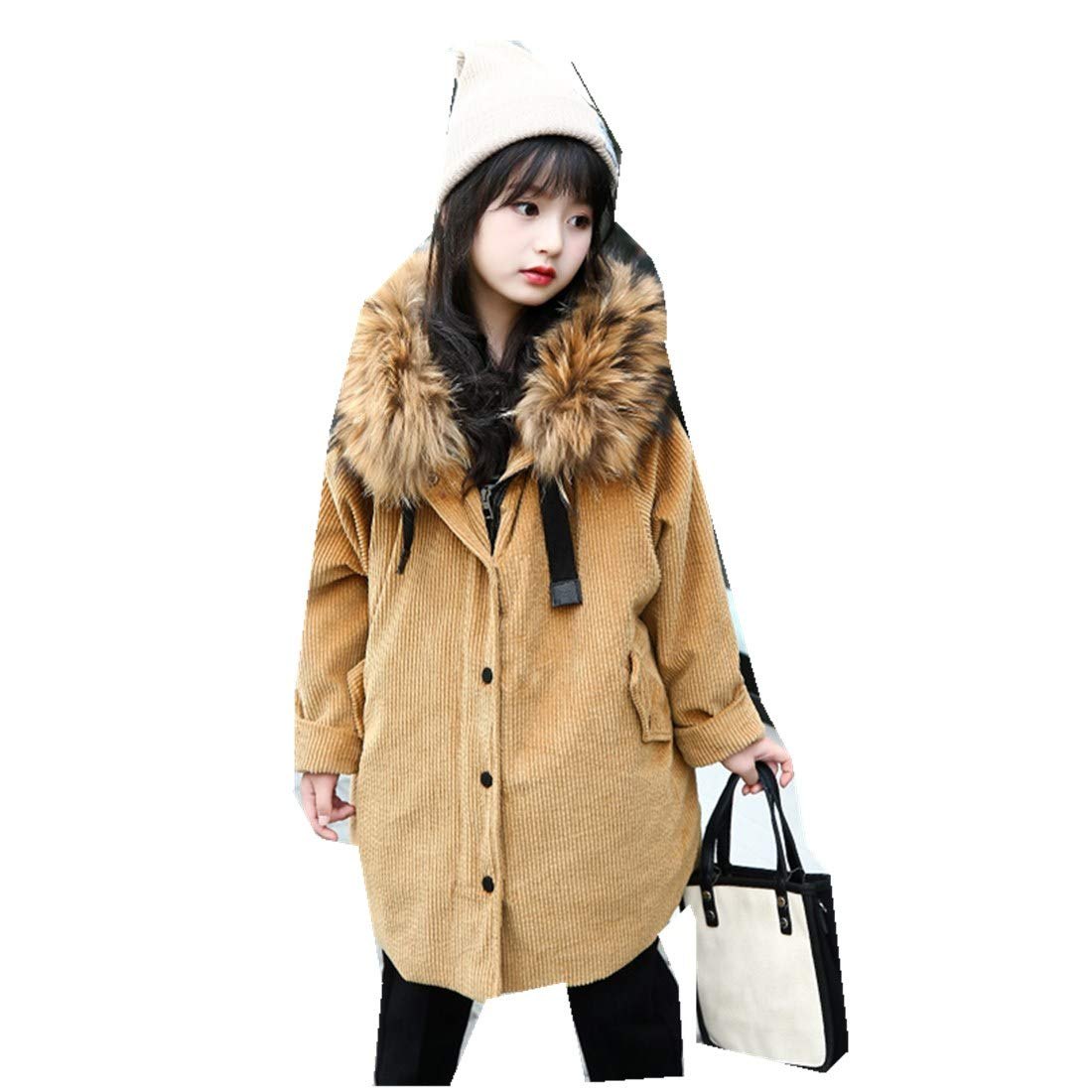 MV Girls Cotton New Thick Winter Long Cotton Suit Childrens Coat Kids Clothing