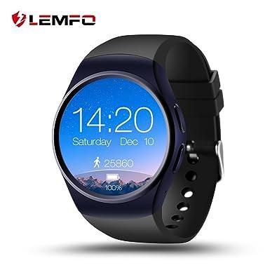 Lemfo LF18 inteligente reloj soporte SIM TF tarjeta pulsómetro reloj