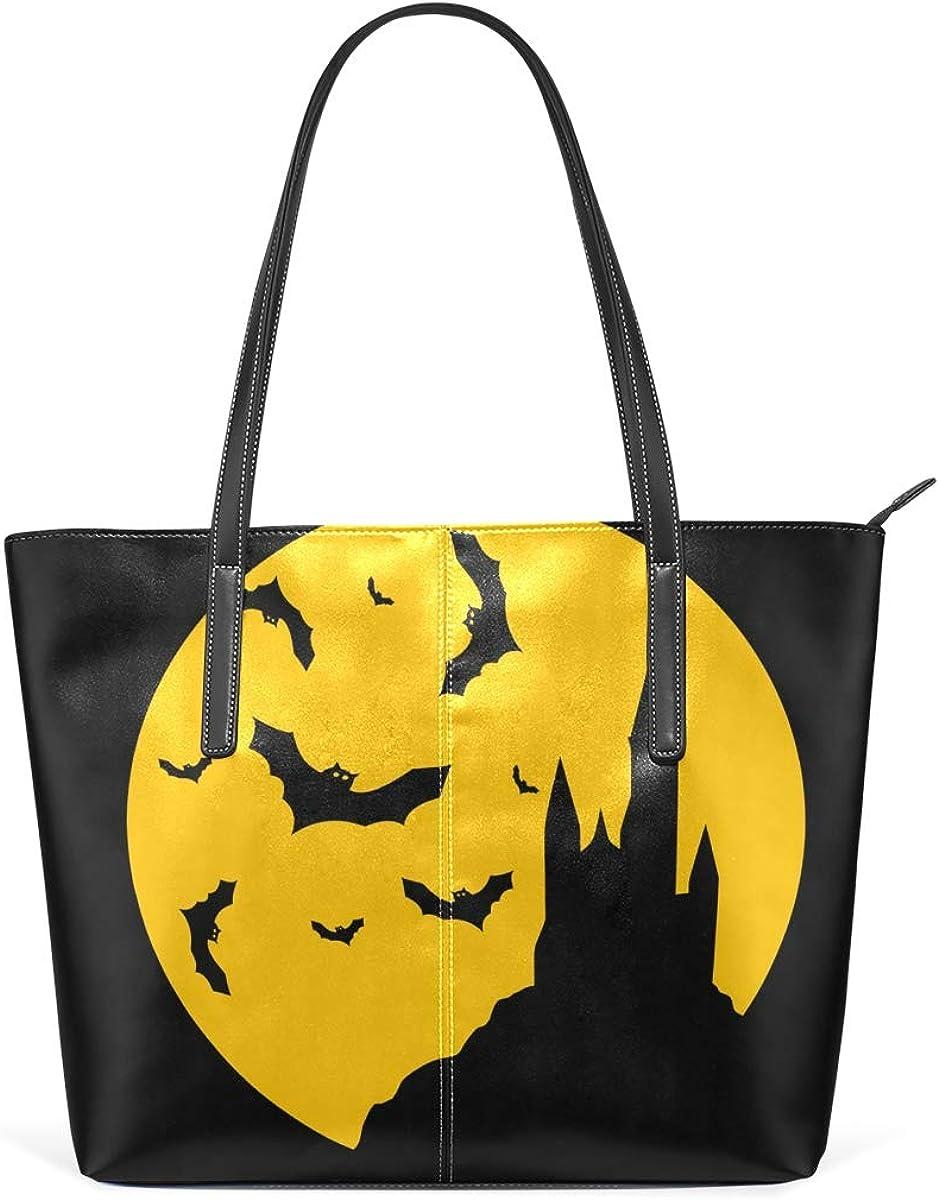 FANTAZIO Handbag Shoulder Halloween Castle Bats Shoulder Handbag