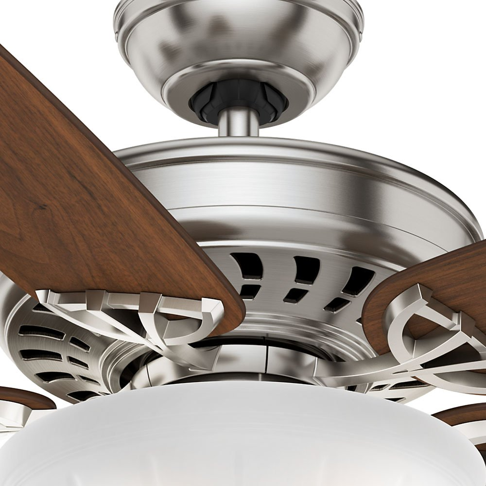 Casablanca 54023 Concentra Gallery 54-Inch 5-Blade Single Light Ceiling Fan, Brushed Nickel with Walnut/Burnt Walnut Blades and Cased White Glass Bowl Light by Casablanca (Image #10)