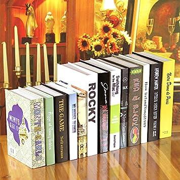Decomest Modern Concise Livres De Decoration Faux Livres