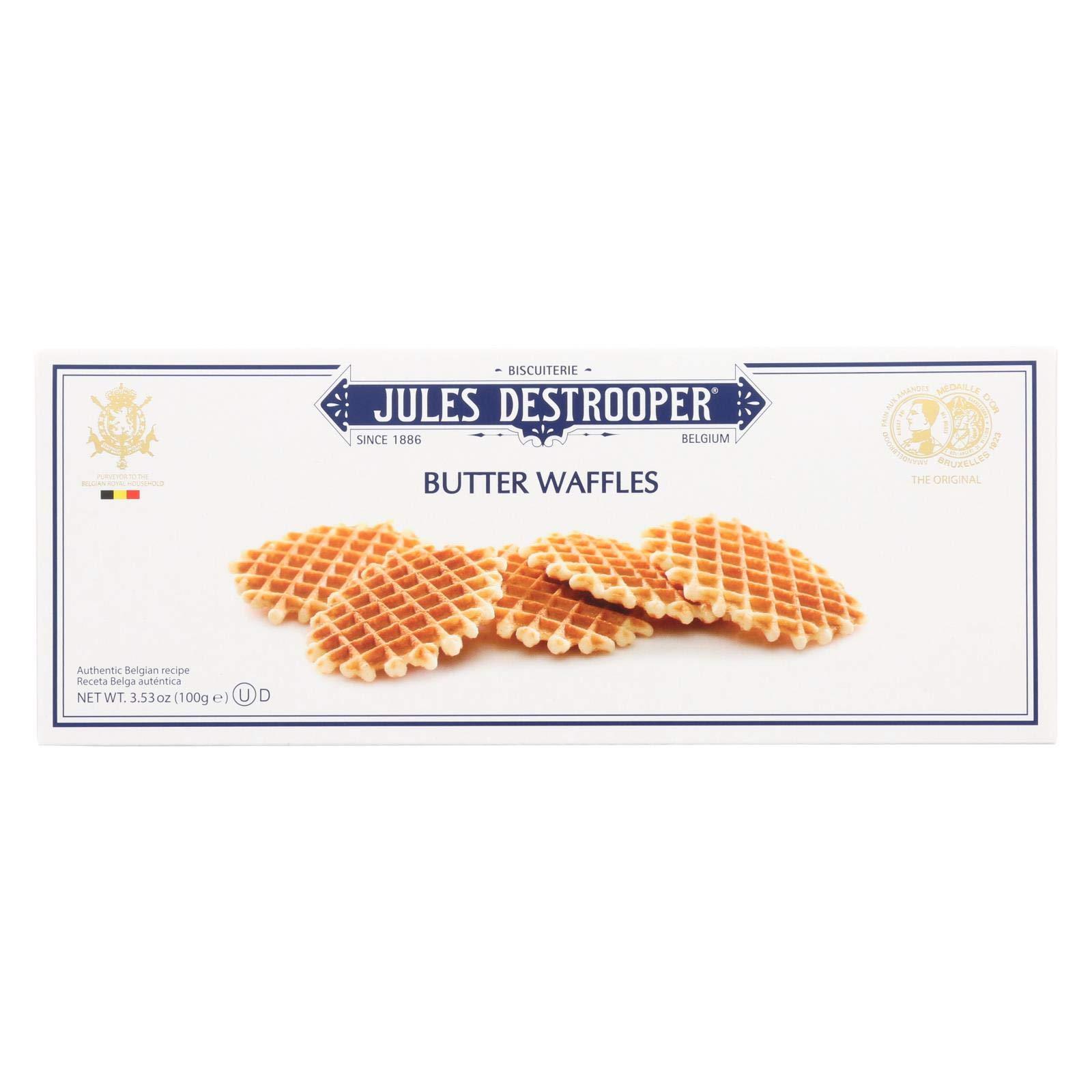 Jules Destrooper Cookies - Butter Waffles - Case of 12 - 3.52 oz.