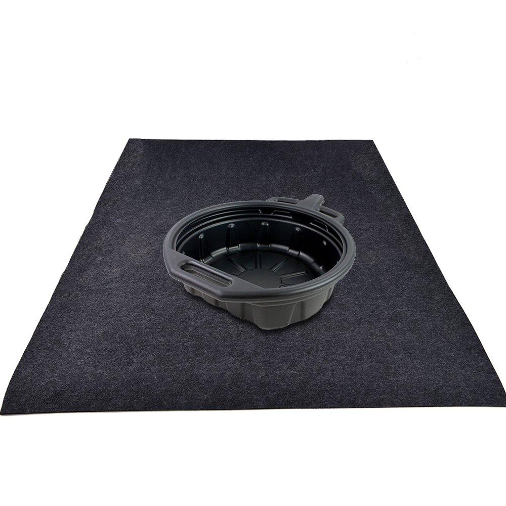 "KALASONEER Oil Spill Mat (5' x 3' ), Premium Absorbent Oil Mat Reusable Lightweight Washable Oil Pad Contains Liquids, Protects Garage Or Shop / Parking / Floor /Driveway Surface (36"" x 60"")"