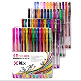 Arts & Crafts : Glitter Gel Pens Set 48 Sparkly Colors Premium Quality Gel Pens for Adult Coloring Books Mandalas Crafting Doodling Drawing Scrapbooking