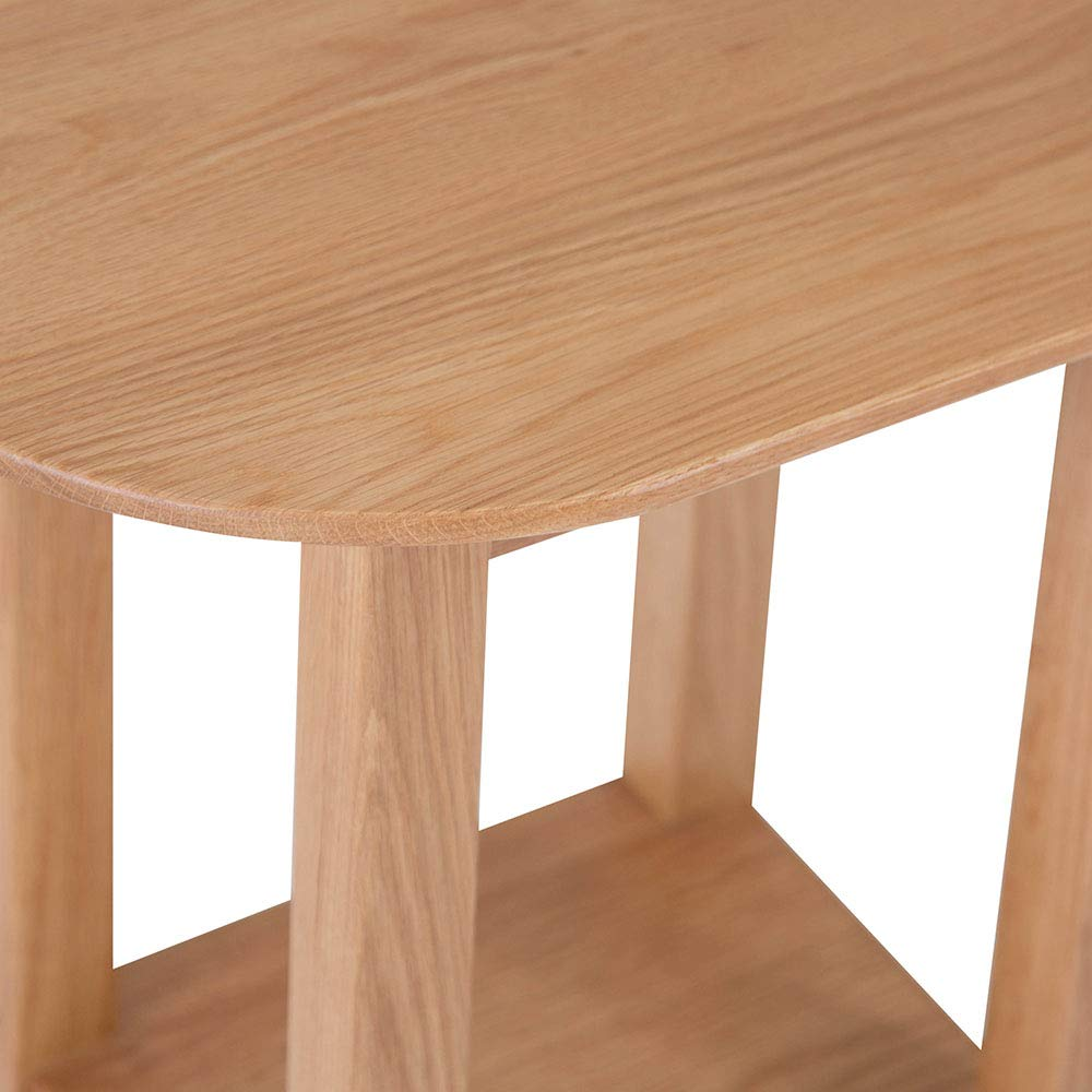 The Furniture Outlet Nordic Oak Round Lamp Table