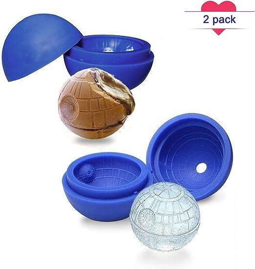2 piezas silicona grande Ice Ball Mold, Star Wars estrella de la ...