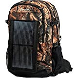 Energizer PowerKeep Wanderer Backpack, Detachable Solar Panel, Nylon Material, Hydration Bag, with 10000mAh Energizer PowerKeep to charge cell phones, tablets and other devices. (Camo),