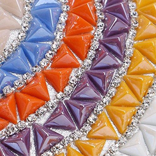Women's Color Multicolor Multicolor bag Rhinestones 1 Shoulder Clutch 1 Purse Evening Handbag KERVINFENDRIYUN w8qdna4cT8