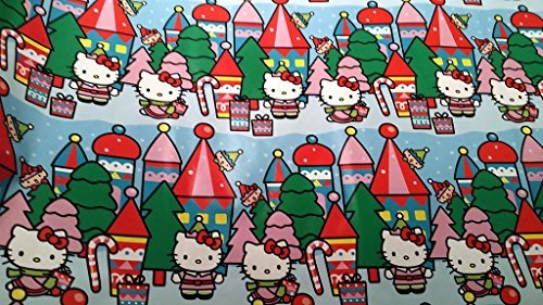 Christmas Wrapping Hello Kitty Holiday Paper Gift Greetings 1 Roll Design Festive Wrap Kitty Peppermint