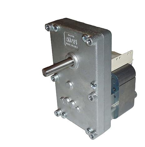 Motorreductor para estufa de pellets 2 rpm, carga Pellets, rotación izquierda 230 V 50