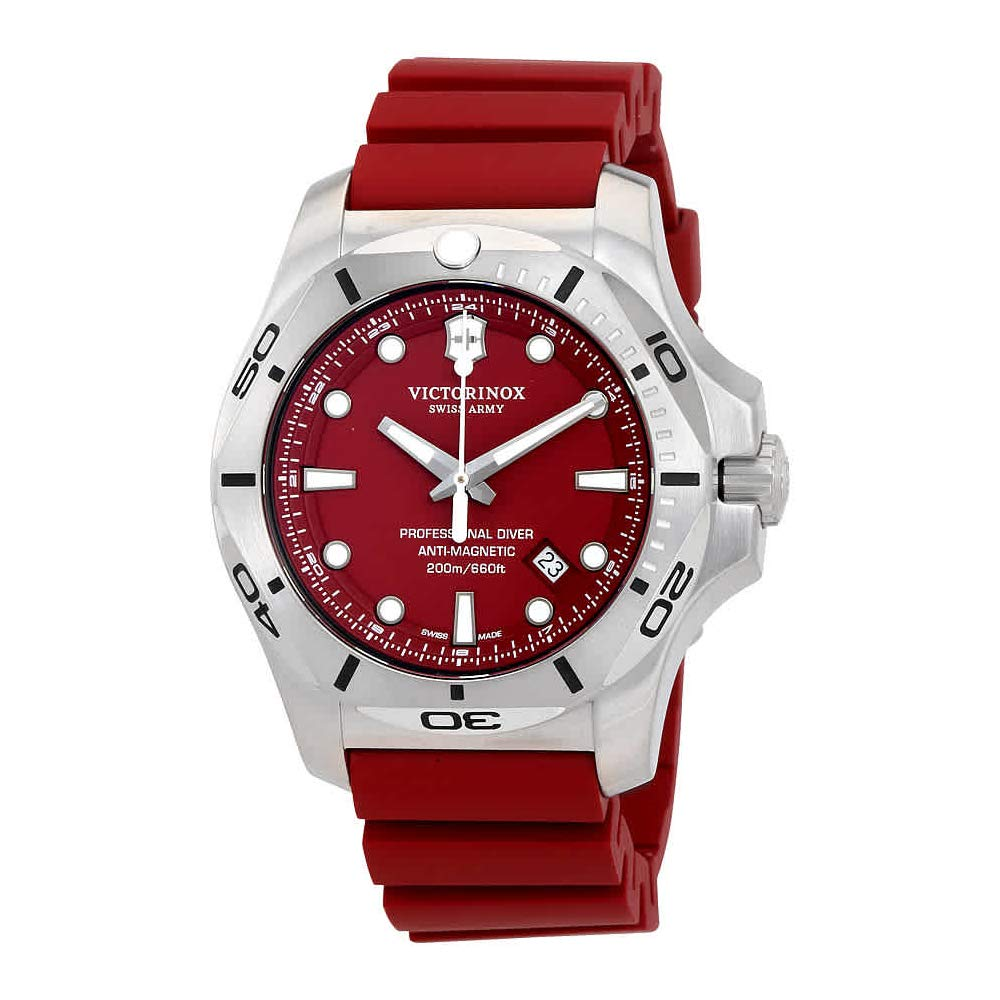 Amazon.com: Victorinox V241735 INOX Mens Watches, Red/Red, 45mm: Victorinox: Watches