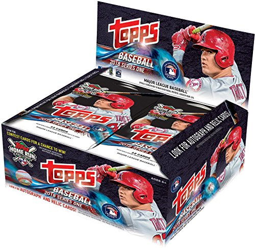 2018 Topps Baseball Series 1 Factory Sealed 24 Pack Box - Fanatics Authentic Certified - Baseball Wax Packs