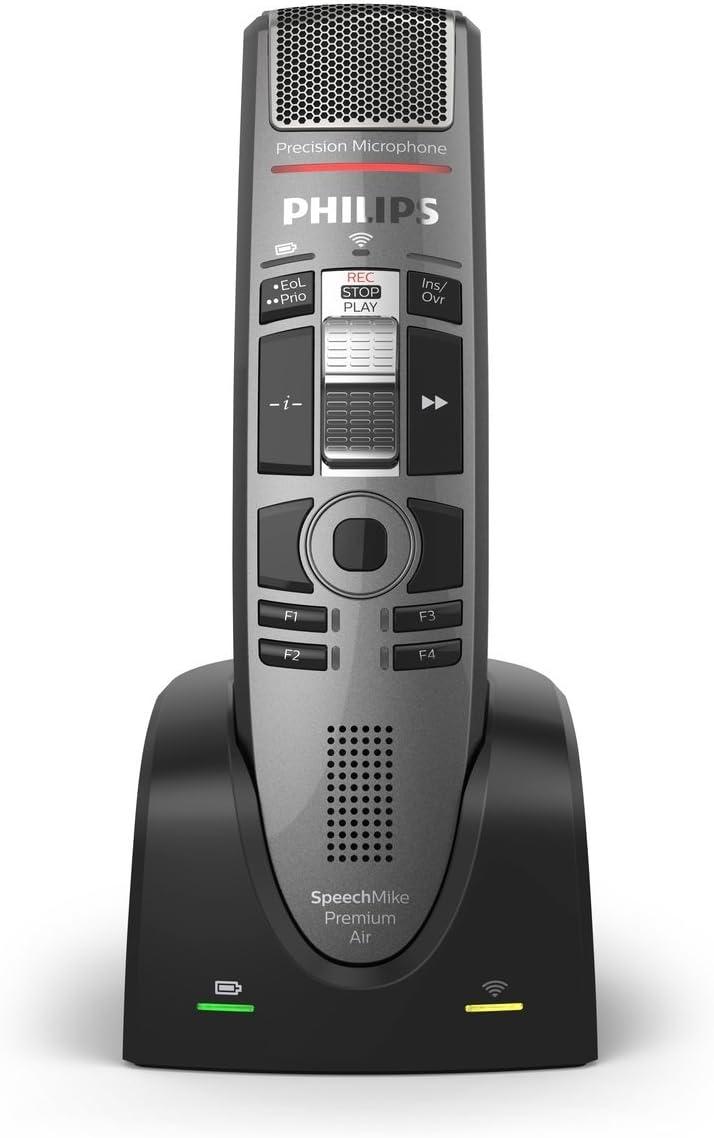 Micrófono de dictado Premium Air de SpeechMike, con interruptor deslizante (int): Amazon.es: Electrónica