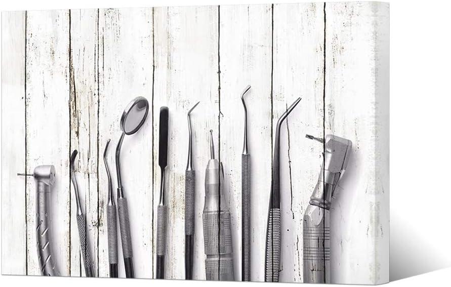 "HOMEOART Dental Art Dental Equipment Medical Office Dentistry Wall Decor Framed Ready To Hang Dentist Gift 24""x36"""