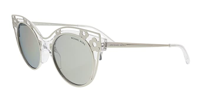 20958a0ede4b Image Unavailable. Image not available for. Colour: Michael Kors MK 1038  30506G Melbourne Crystal Clear Metal Cat-Eye Sunglasses ...