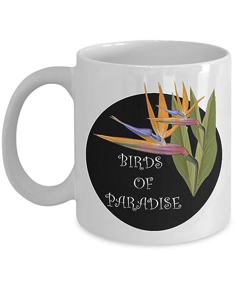Amazon.com: Birds of Paradise taza de café: creativo bebida ...
