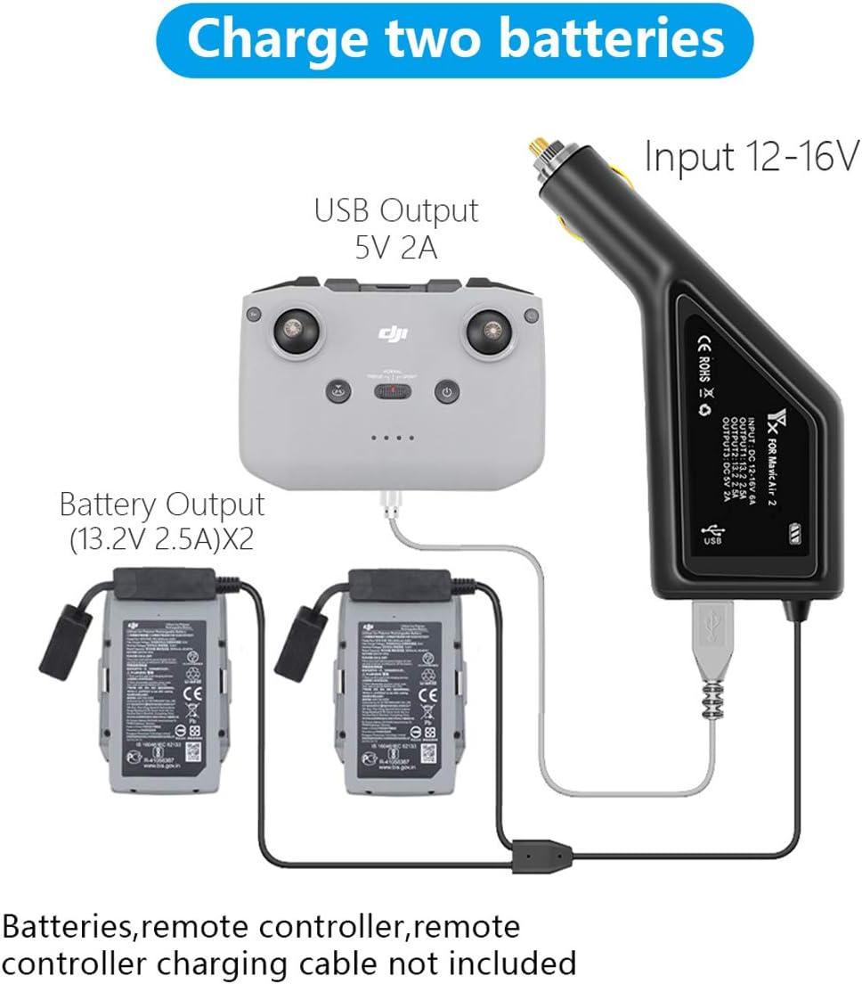 STARTRC Accesorios para dji Mavic Air 2 4 en 1 Bater/ía r/ápida Inteligente Administrador de Carga de bater/ía Inteligente con indicador de Carga Pantalla LCD