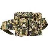 YuHan Hiking Waistpacks Outdoors Tactical Waist Pack Pouch Water Bottle Pocket Holder Molle Hip Belt Bag Jungle Digit