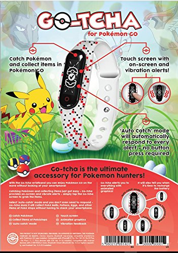 DATEL Pokémon Go Go Tcha Wristband for iPhone and Android (Colors May Vary)