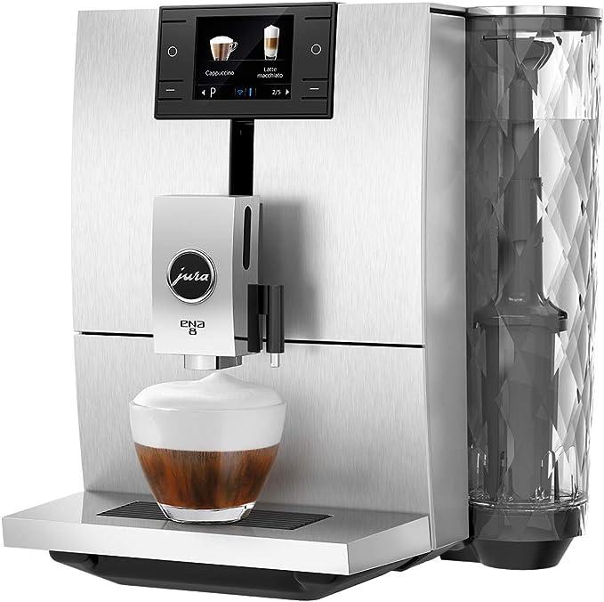 JURA ENA 8 Independiente Máquina espresso Aluminio 1,1 L 10 tazas ...