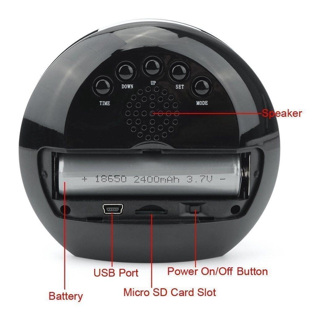 TenSky Reloj Despertador Digital Camara Espia Camufladas con Sensor de Movimiento Video Grabador Angulo Vision de 140 Grados: Amazon.es: Bricolaje y ...